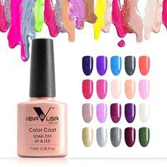 #61508   Venalisa Free Shipping UV Gel Polish 60 Colors Environmental  Nail Gel Polish  7.5ml Soak Off  Color Gel Polish