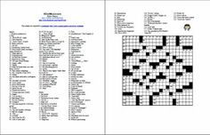 Free Printable Christmas Holiday Crossword Puzzle