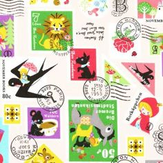 Fabric, Postage Stamps
