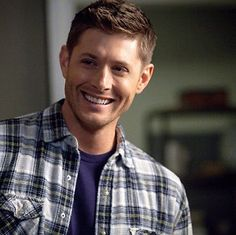 Literally can't even handle this man with that plaid, and that smile, and that hair, and those EYES! *dies*