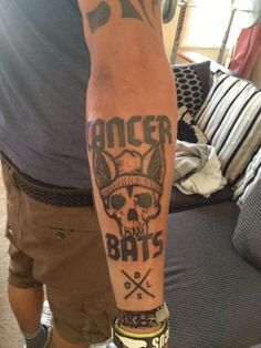 Cancer Bats Tattoo on forearm
