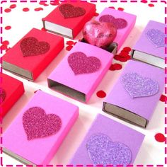 Kids' VALENTINE'S Day CANDY HEART Gift Boxes. Cute and different idea