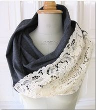 Turn some lace and an old t-shirt into a scarf!