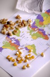 "Map your food! Encourage kids to track the ""global footprint"" of your family's food. #EarthDay"
