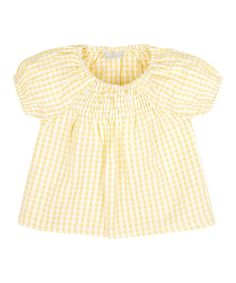 Look at this Buttercup Gingham Shirred Top - Infant, Toddler & Girls on #zulily today!