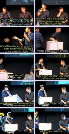Jensen is just like damn it.  That was not where I wanted this to go. This is perfect!!