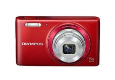 Red VG-180 Digital Camera by Olympus, takes great photos, it's easy to use, small enough to carry it in your purse, 16MP camera with simple design and bright color, perfect holiday camera since it has a compact size.  http://www.zocko.com/z/JJxse