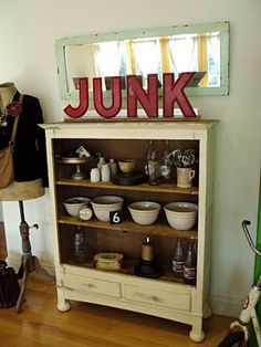 I collect junque.  junk:  things having no value; discard; not usable.  junque:  having some intrinsic value; may be recycled, reused, adapted.