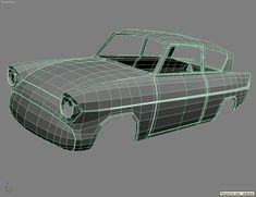 View of Anglia Classic Cars British, Ford Classic Cars, Ford Motor Company, Motion Design, Low Poly Car, Cool Symbols, Illustrator, Ford Anglia, Modeling Tips