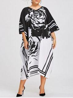 Summer Women's Vintage Loose Short Sleeve Long Maxi Oversized Dress Baggy New Midi Dress Plus Size, Black Midi Dress, Plus Size Dresses, Special Dresses, Special Occasion Dresses, Cheap Dresses, Cute Dresses, Plus Size Gowns Formal, Dresser