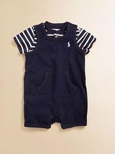 Ralph Lauren - Infant's Striped Shortall Set