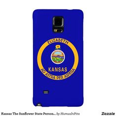 Kansas The Sunflower State Personalized Flag Galaxy Note 4 Case