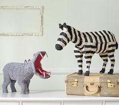 Jaxon room shelf or kids bath shelf Beaded Animal Decor Toddler Room Decor, Boy Girl Room, Elephant Nursery, Circus Nursery, Clay Animals, Zoo Animals, Beaded Animals, Frame Crafts, Animal Decor