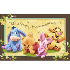 baby winnie the pooh material | Baby Pooh and Friends Wall Mural