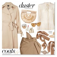 """Duster Coats"" by oshint ❤ liked on Polyvore featuring Topshop, Etro, Étoile Isabel Marant, Eugenia Kim, Raye, Cult Gaia, Christian Dior, Dolce&Gabbana, Gucci and Olivia Burton"