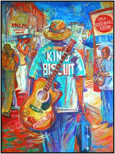 "Poster I did for the 2011 'King Biscuit Blues Festival"". Guitar Painting, Music Painting, Guitar Art, Musikfestival Poster, Blue Poster, Music Wall Art, Music Artwork, Rhythm And Blues, Blues Music"
