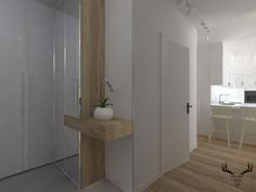 przedpokój, hall, minimalizm, styl skandynawski Divider, Room, Furniture, Design, Home Decor, Bedroom, Decoration Home, Room Decor, Rum