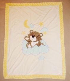 Riegel Teddy Bear Duck Block Toys Vintage Flannel Baby