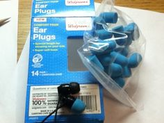 Use inexpensive ear plugs to replace a busted earbud.   28 Low-Tech Hacks For Your High-Tech Gadgets