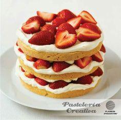 Fascículo 24 de Pastelería Creativa -    Pastel de nata con fresas