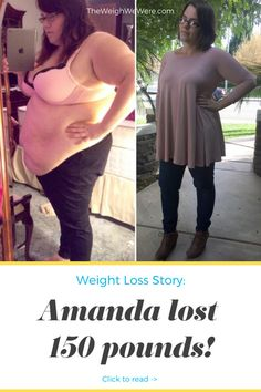 Amanda Lost 150 Pounds - read more Motivational before and after fitness transformations from women who hit their weight loss goals with training and hard work. Learn her workout tips and read her inspirational success story!