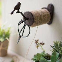 Kitchen Twine Dispenser | Jute Twine | Cast Iron String Holder | Hanging String Holder