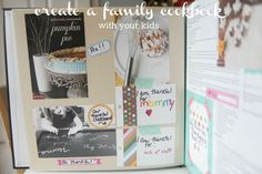 How to Create a Family Cookbook with Your Kids — Kenmore® Community Craft Projects For Kids, Easy Crafts For Kids, Cool Diy Projects, Craft Ideas, Making A Cookbook, Create A Cookbook, Record Crafts, Create A Family, New Crafts