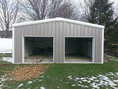 Metal Garage, Steel Building Garage Kit, Metal & Steel Garage Kit, PreFab Building by U.S. Metal Buildings