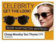 Get Rosie Huntington-Whiteley's celeb look with a pair of stylish clubmasters.