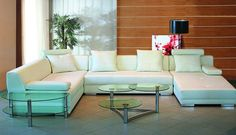 3334B - Modern Bonded Leather Sectional Sofa
