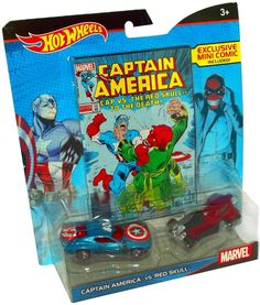 Hot Wheels Marvel Captain America vs. Red Skull Character Car 2-Pack with Comic https://api.shopstyle.com/action/apiVisitRetailer?id=503212631&pid=uid8100-34415590-43