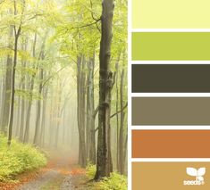 Crochet Inspiration: Color palette forest hues. This would make a pretty ripple crochet afghan!