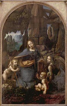 Virgen de las rocas, Leonardo da Vinci (C16)