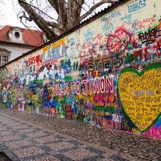 Lennon wall, P, Czech republic, Europe