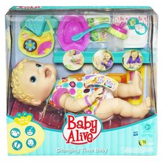 Baby Alive Changing Time Baby - Blonde  - Click image twice for more info - See a larger selection of baby alive at http://zkidstoys.com/product-category/baby-alive/ - kids,baby,toddler,child,children,little girls, kids toys, little girl toys, play doll, children gift ideas,christmas,holidays.