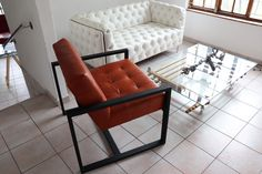 Barcelona Chair, Occasional Chairs, Floor Chair, Lounge, Flooring, Furniture, Home Decor, Airport Lounge, Drawing Rooms