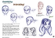 How to draw head Cartoon Girl by *celaoxxx on deviantART