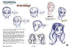 How to draw head Cartoon Girl by *celaoxxx on deviantART
