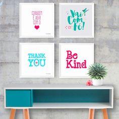 Kit Quadros Decorativos Motivação Cute - Encadreé Posters
