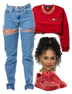 """90's vibes"" by trillest-fashion ❤ liked on Polyvore featuring NIKE"