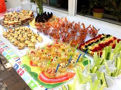 Miniature food, amazing kids' birthday spread.