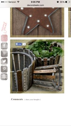 Love these baskets from yard sticks.