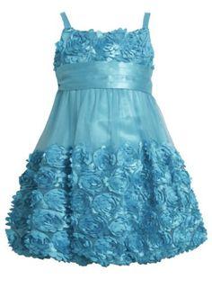 * LITTLE GIRL 2T-6X DRESS * Turquoise Blue Die Cut Bonaz Rosette Mesh Bubble Dress TU3SP, Turquoise, Bonnie Jean Little Girls 2T-6X Bonnie Jean,http://www.amazon.com/dp/B00I1LYTXE/ref=cm_sw_r_pi_dp_iMg5sb1KWK1WEMGM