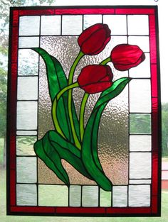Red tulips 21 by 29