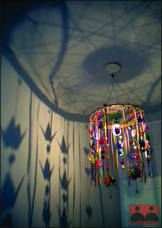 Dreamcatcher Light Fixture~ casts a charming shadow effect
