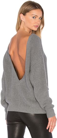 Callahan V Back Sweater. Los Angeles based brand Callahan is known for their comfy sweaters and perfect boyfriend fits. Their line is elevated by unique textures, materials, and techniques that give each piece versatility and wearability. Designed for cool girls everywhere, Callahan is inspired by effortlessly easy style. #affiliate