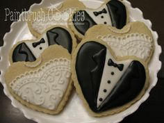 bride groom heart cookies | give you my heart | Cookie Connection