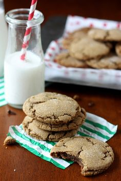 Chewy Gingersnap Cookies