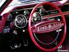 interior of a 1968 Ford Mustang