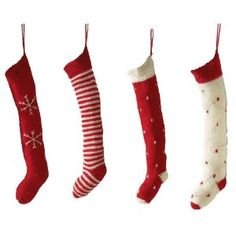 Image detail for -Tag Alpine Collection 20-Inch Red-and-White Knitted Christmas Stocking ...